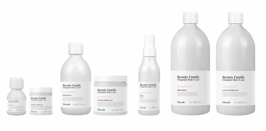 Nook Beauty Family Organic Serie (avena&riso) til fint hår.