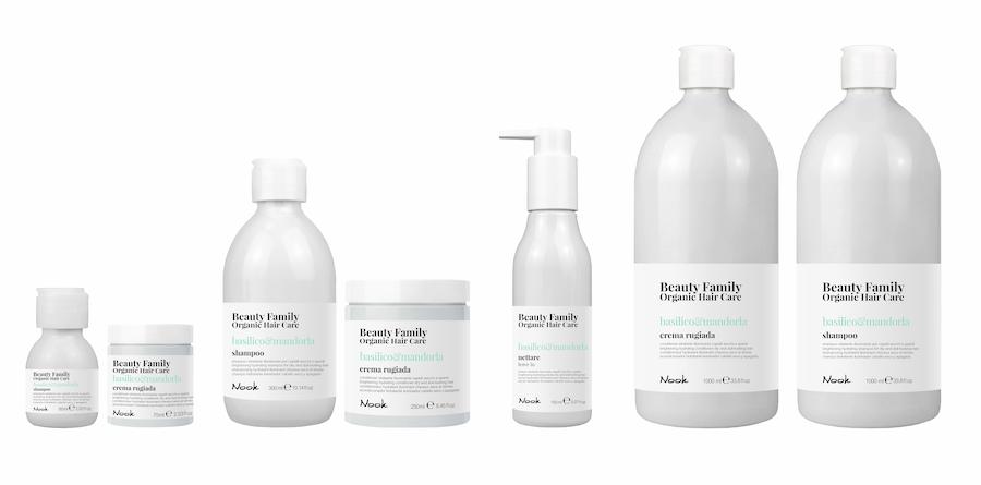 Nook Beauty Family Organic Serie (basilico&mandorla) til tørt og træt hår