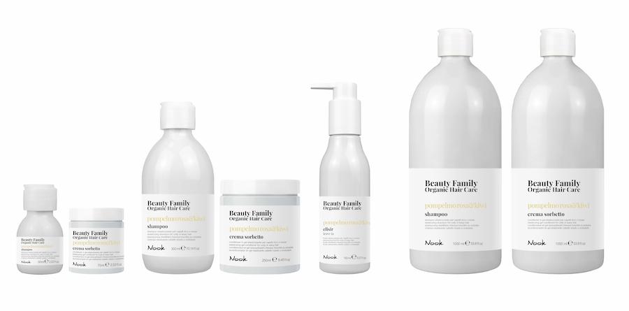 Nook Beauty Family Organic Serie (pompelmo rosa&kiwi) til krøllet eller wave hår