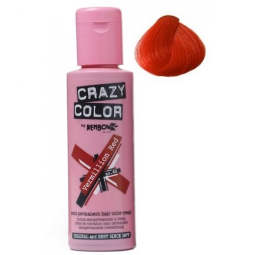 Crazy Color Vermillion Red 40-30