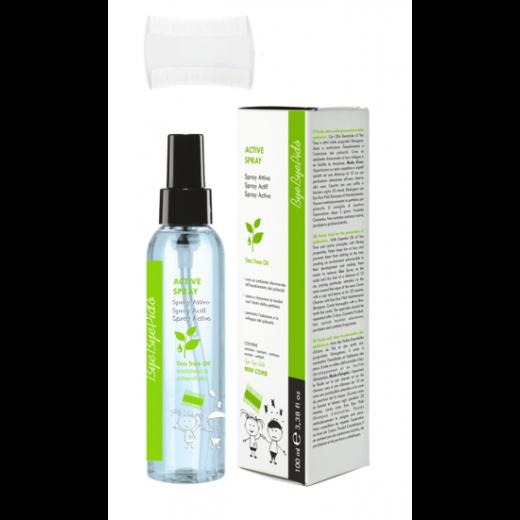 Luse activ spray med kam 100 ml.-30