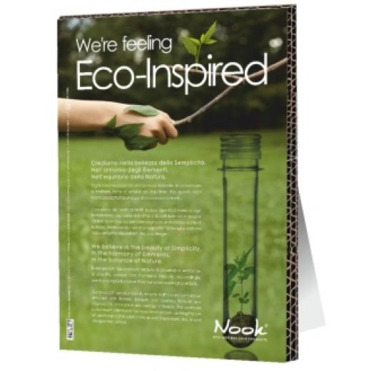 """Nook Pap stander A3 """"Eco Philosophy"""" Engelsk nr 1006-3"""