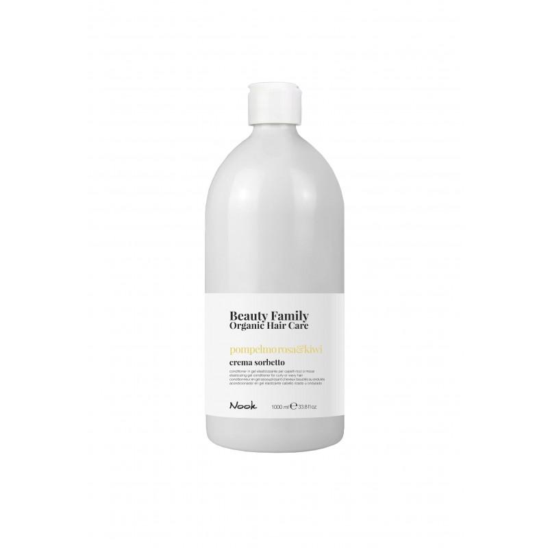 Nook Beauty Family Organic conditioner (pompelmo rosa&kiwi) til krøllet eller wave hår hår. 1000 ml.