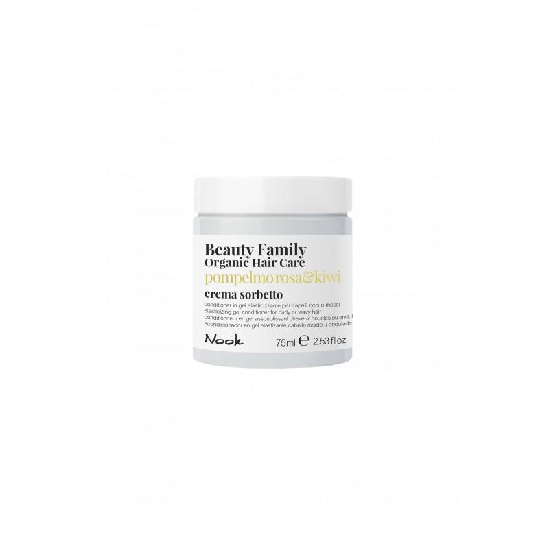 Nook Beauty Family Organic conditioner (pompelmo rosa&kiwi) til krøllet eller wave hår hår. 75 ml.