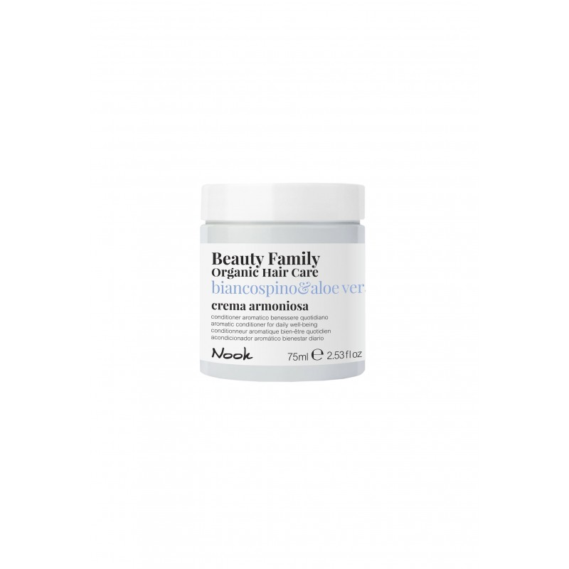 Nook Beauty Family Organic conditioner (biancospino&aloe vera) til dagligt brug. 75 ml.