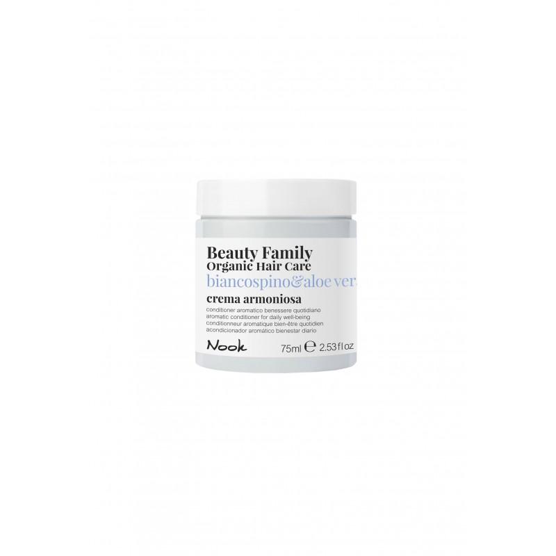 Nook Beauty Family Organic conditioner (basilico&mandorla) til tørt og træt hår 75 ml.