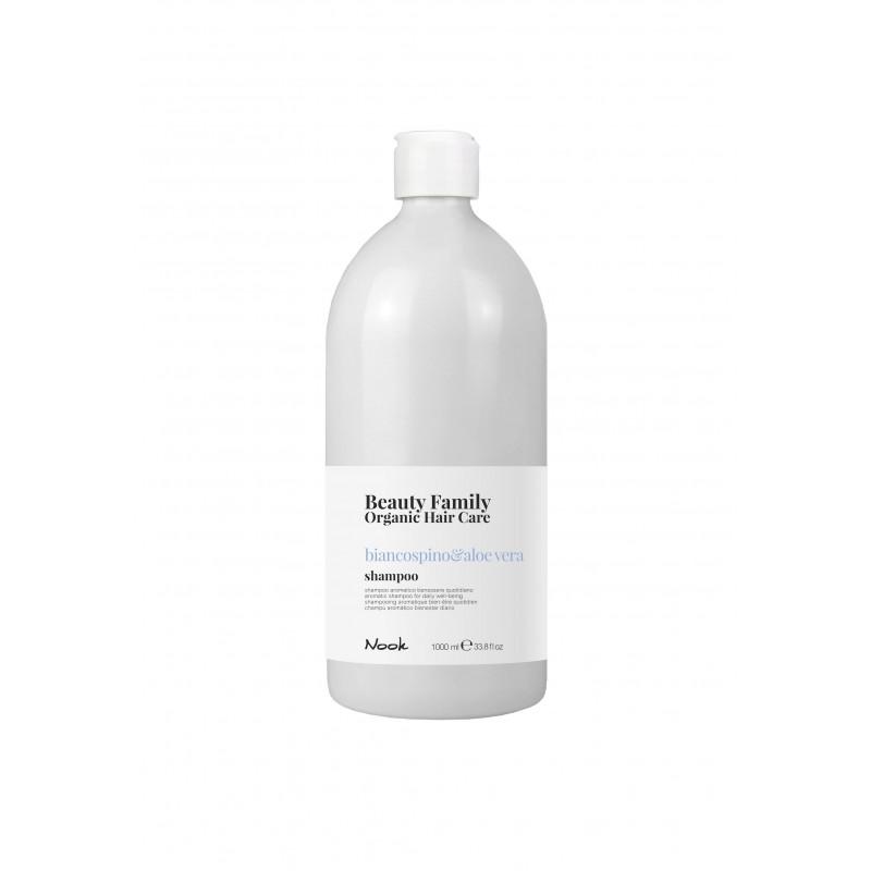 Nook Beauty Family Organic Shampoo (basilico&mandorla) til tørt og træt hår 1000 ml.