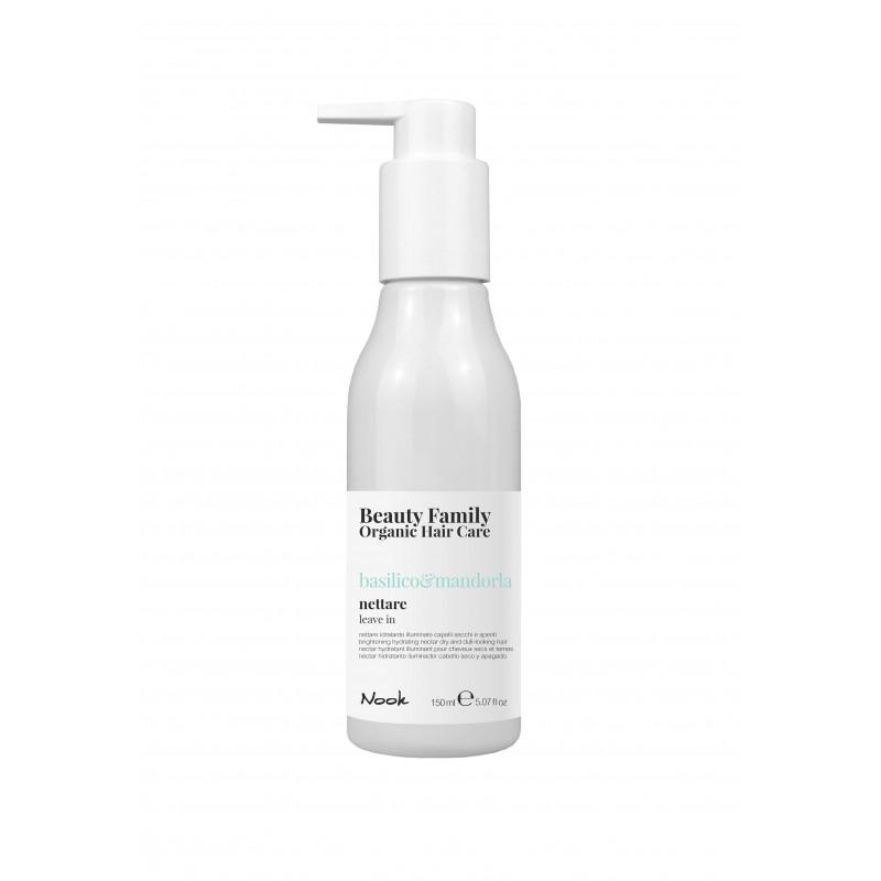 Nook Beauty Family Organic leave in cream (basilico&mandorla) til tørt og træt hår 150 ml.