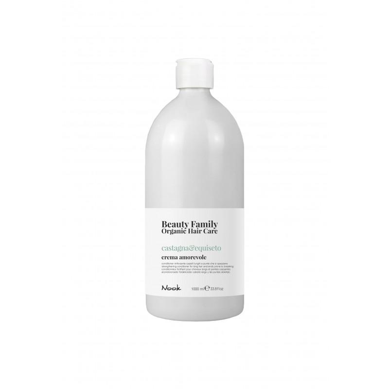 Nook Beauty Family Organic conditioner (castagna&equiseto) til langt hår. hjælper med split ender 1000 ml.