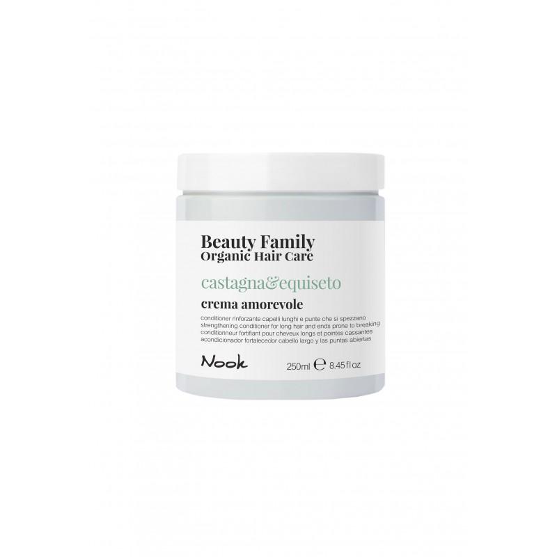 Nook Beauty Family Organic conditioner (castagna&equiseto) til langt hår. hjælper med split ender 250 ml.
