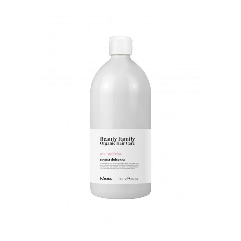 Nook Beauty Family Organic conditioner (avena&riso) til fint hår. 1000 ml.