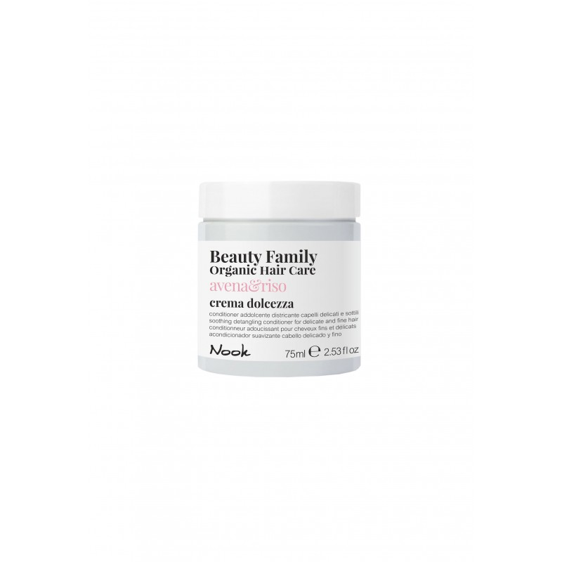 Nook Beauty Family Organic conditioner (avena&riso) til fint hår. 75 ml.