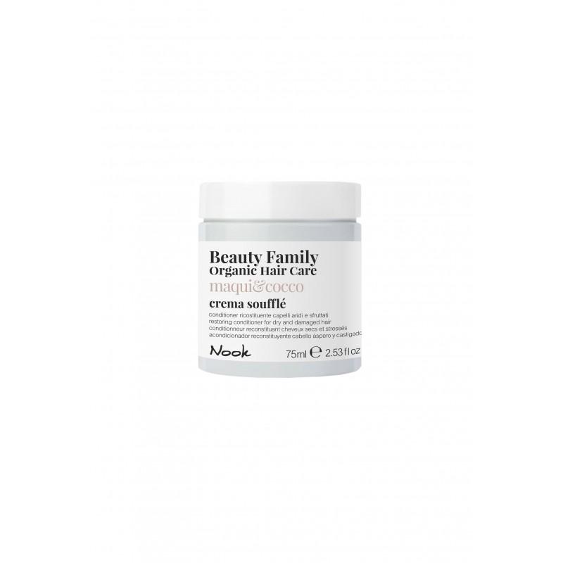 Nook Beauty Family Organic conditioner (maqui&cocco) til tørt og ødelagt hår. 75 ml.
