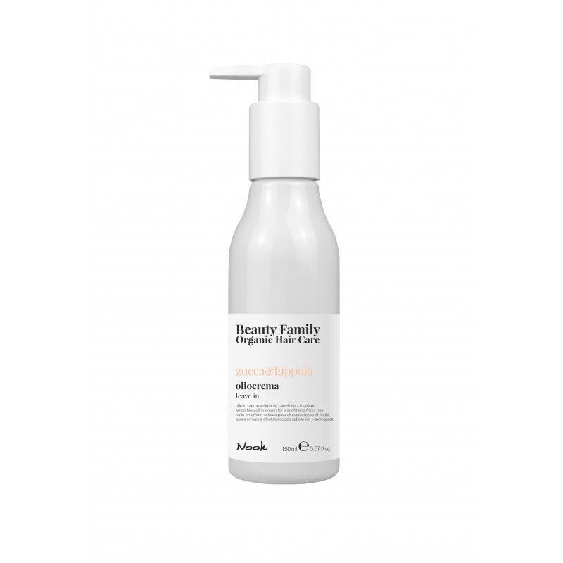 Nook Beauty Family Organic leave in creme (zucca&luppolo) FOR STRAIGHT AND FRIZZY HAIR. 150 ml.