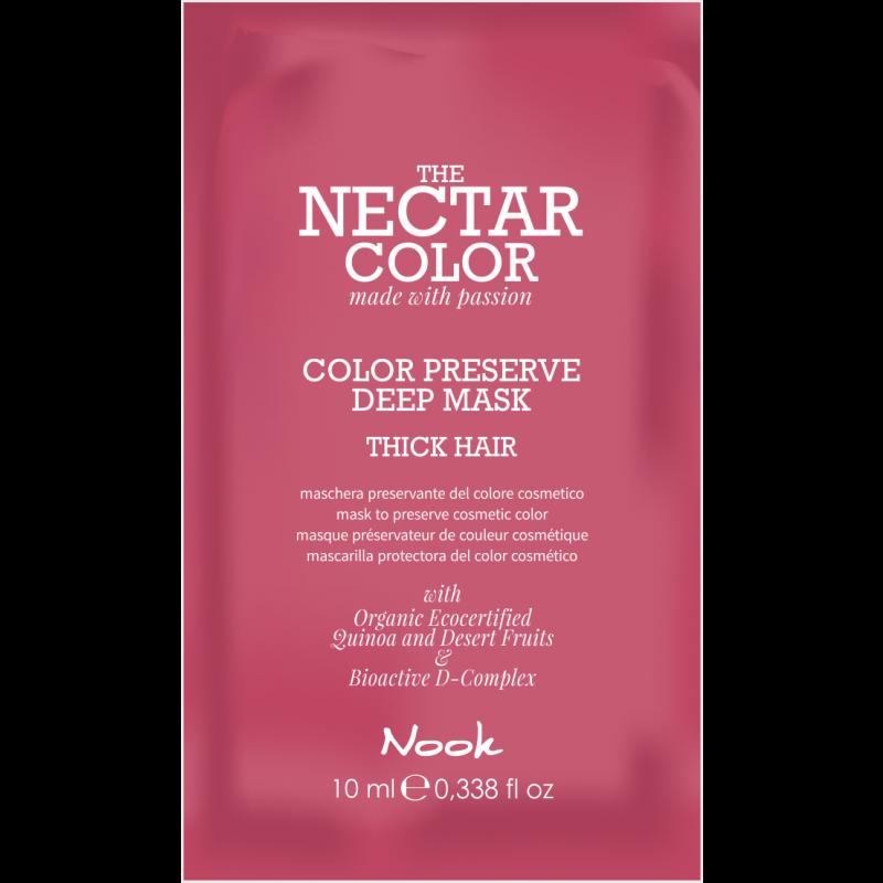 NECTAR COLOR prøve Sachet Color Preserve Deep Mask 10 ml - Thick Hair
