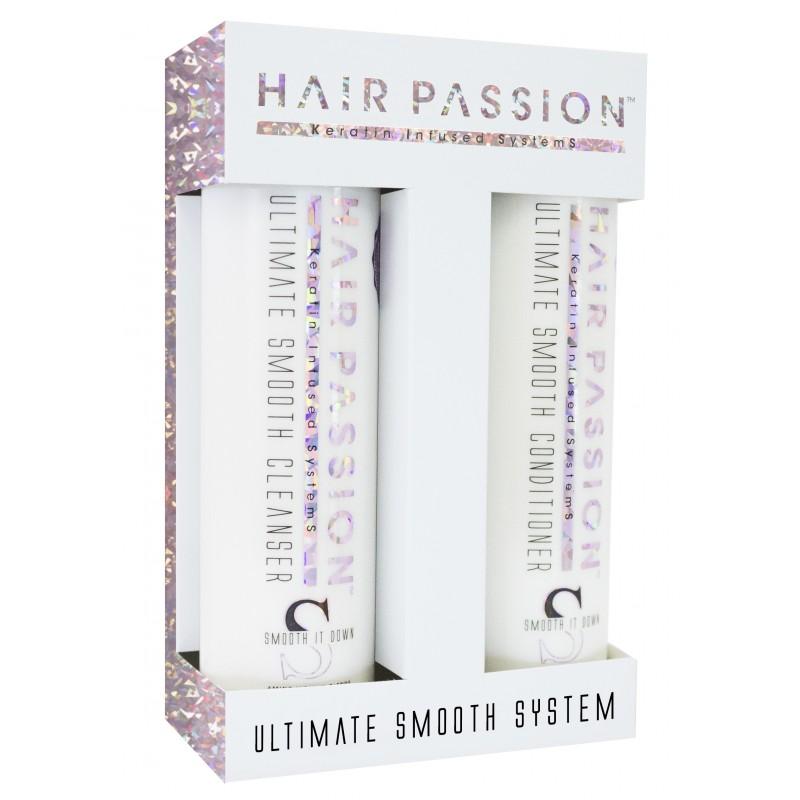 Ultimate Smooth Cleanser shampoo 285 ml / Conditioner 285 ml. vejl 348 kr. Frizz hår
