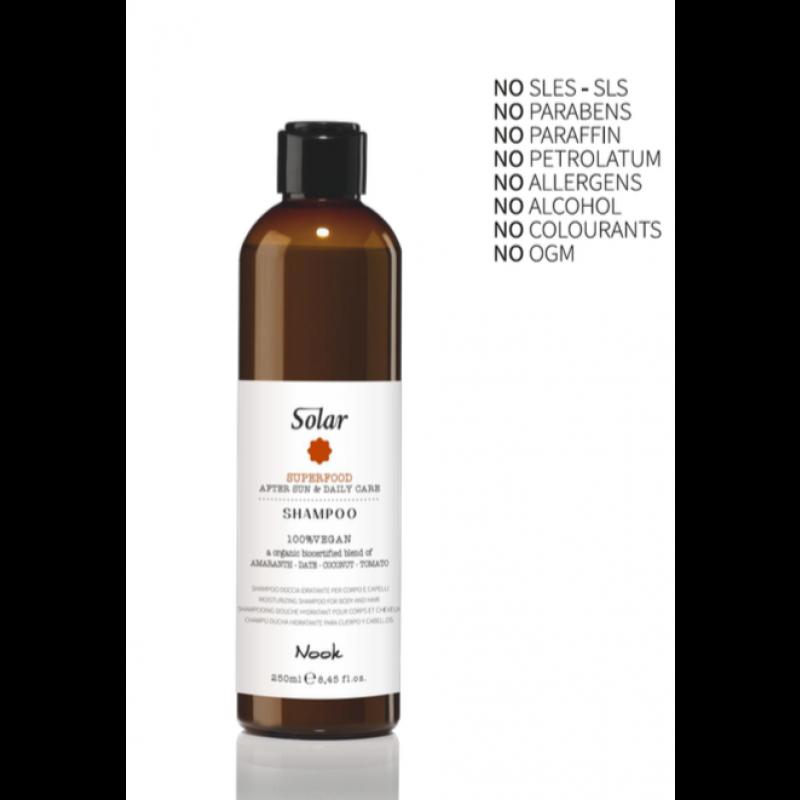 Nook solar hair & body shampoo 250 ml.