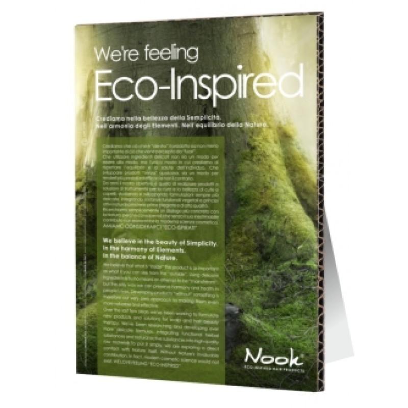 """Nook Pap stander A3 """"Eco inspired"""" Engelsk nr 1003"""