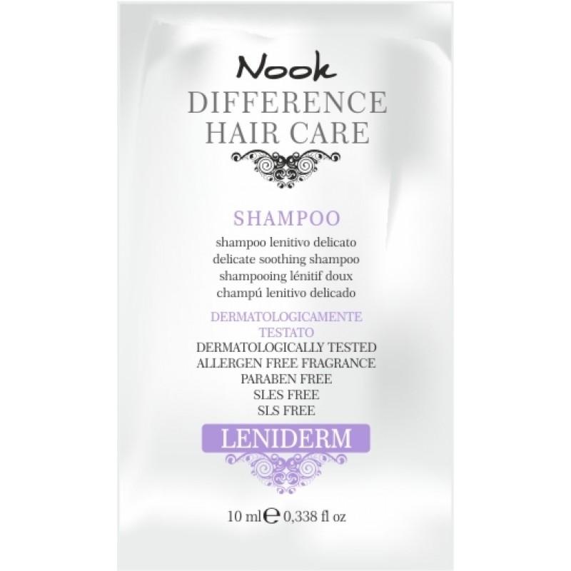 NOOK DHC Leniderm prøve smoothing shampoo 10 ml.
