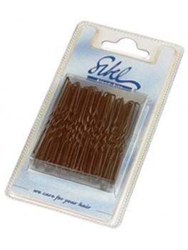 hårnål brun kort tynd bølget ark a 50 stk.-20